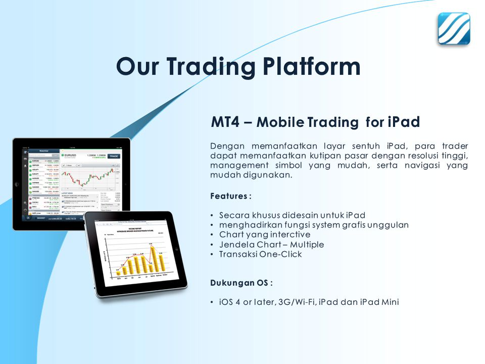 Our Trading Platform MT4 – Mobile Trading for iPad