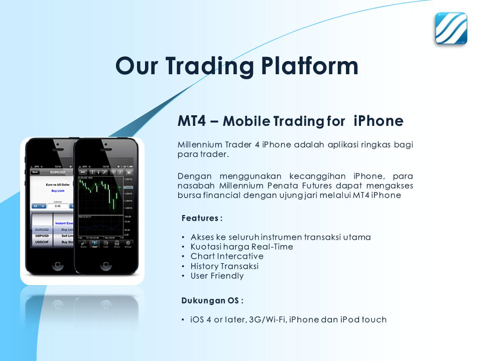 Our Trading Platform MT4 – Mobile Trading for iPhone