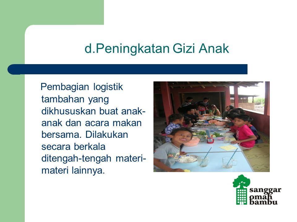 d.Peningkatan Gizi Anak