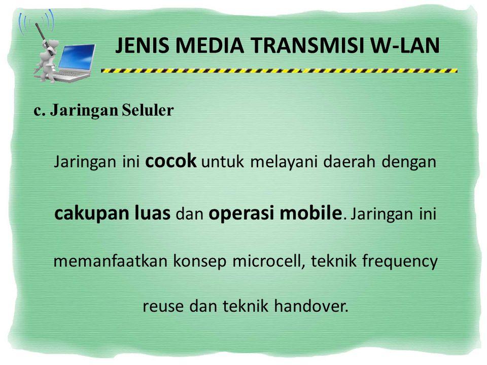 JENIS MEDIA TRANSMISI W-LAN
