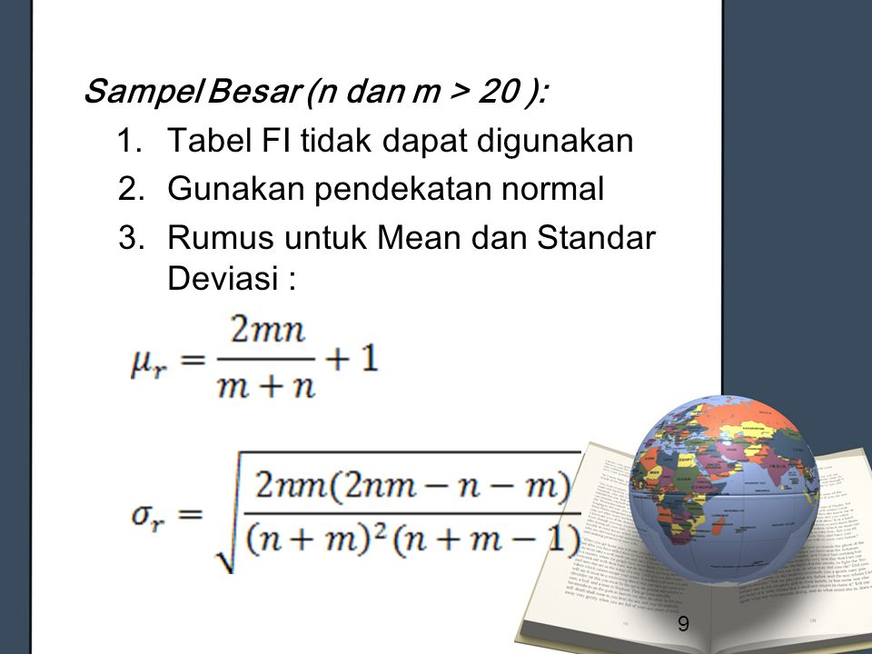 Sampel Besar (n dan m > 20 ):