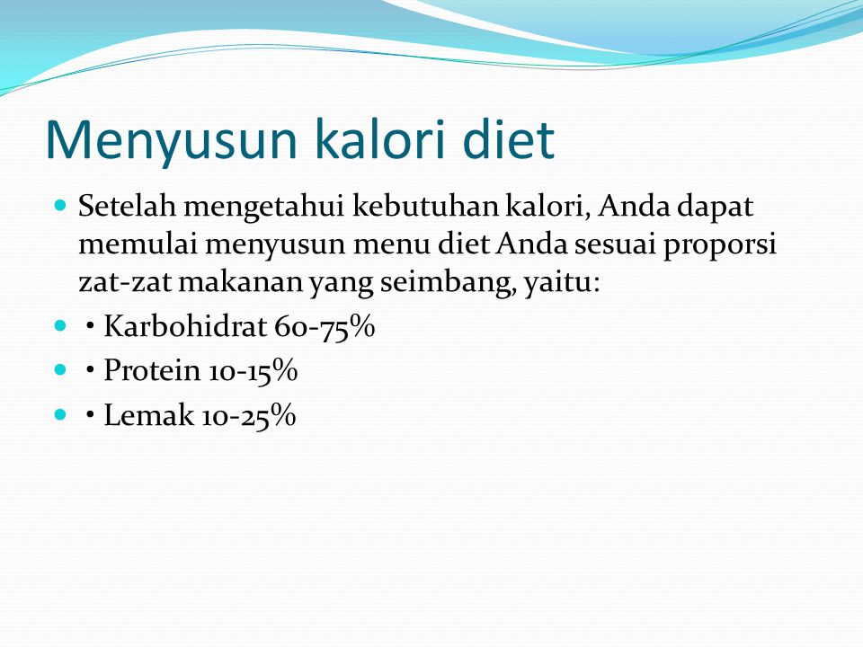 Menyusun kalori diet