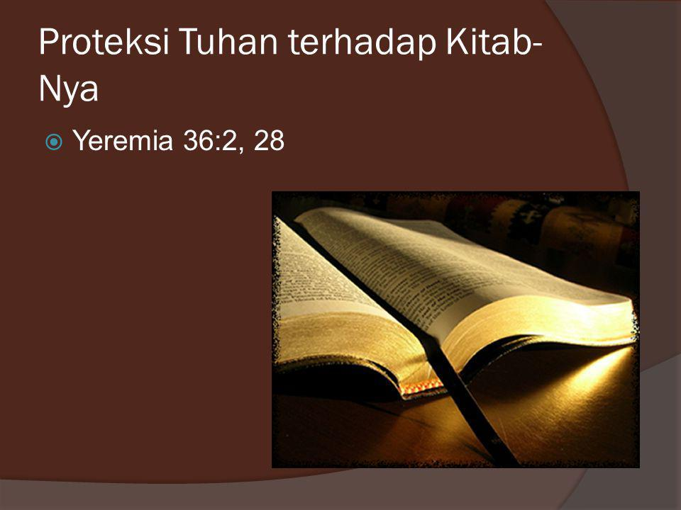 Proteksi Tuhan terhadap Kitab-Nya