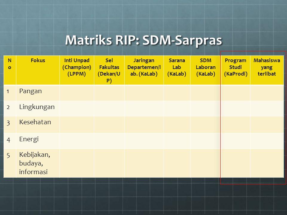 Matriks RIP: SDM-Sarpras