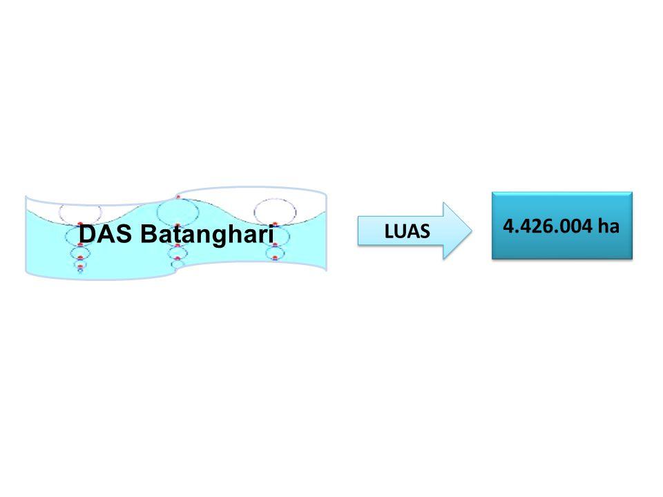 DAS Batanghari 4.426.004 ha LUAS