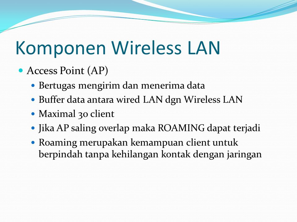 Komponen Wireless LAN Access Point (AP)