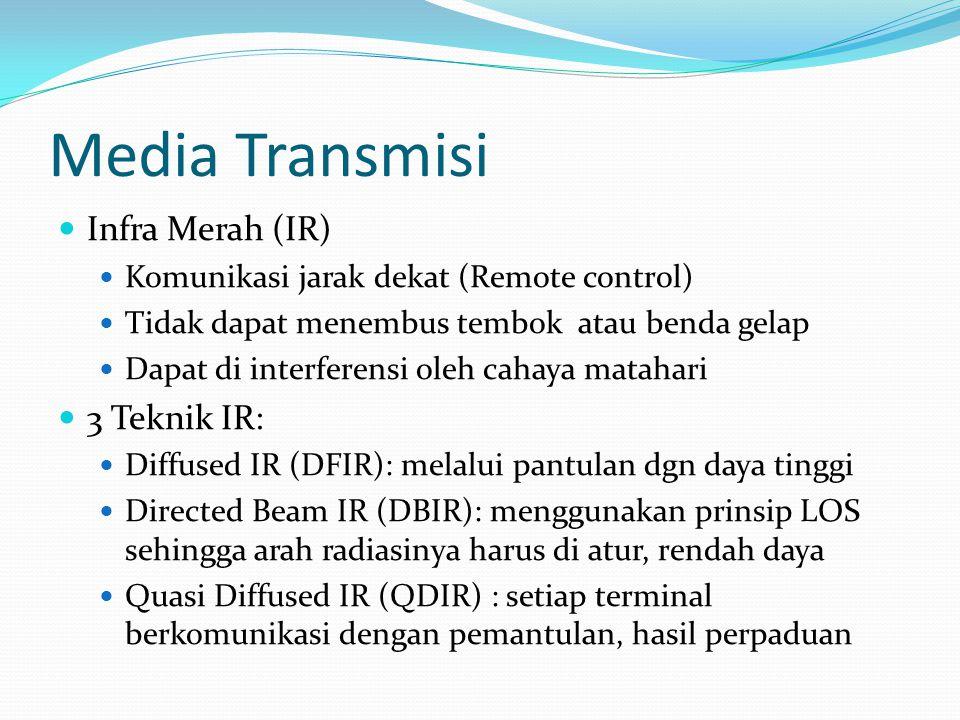 Media Transmisi Infra Merah (IR) 3 Teknik IR: