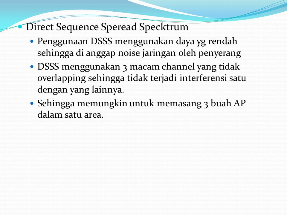 Direct Sequence Speread Specktrum