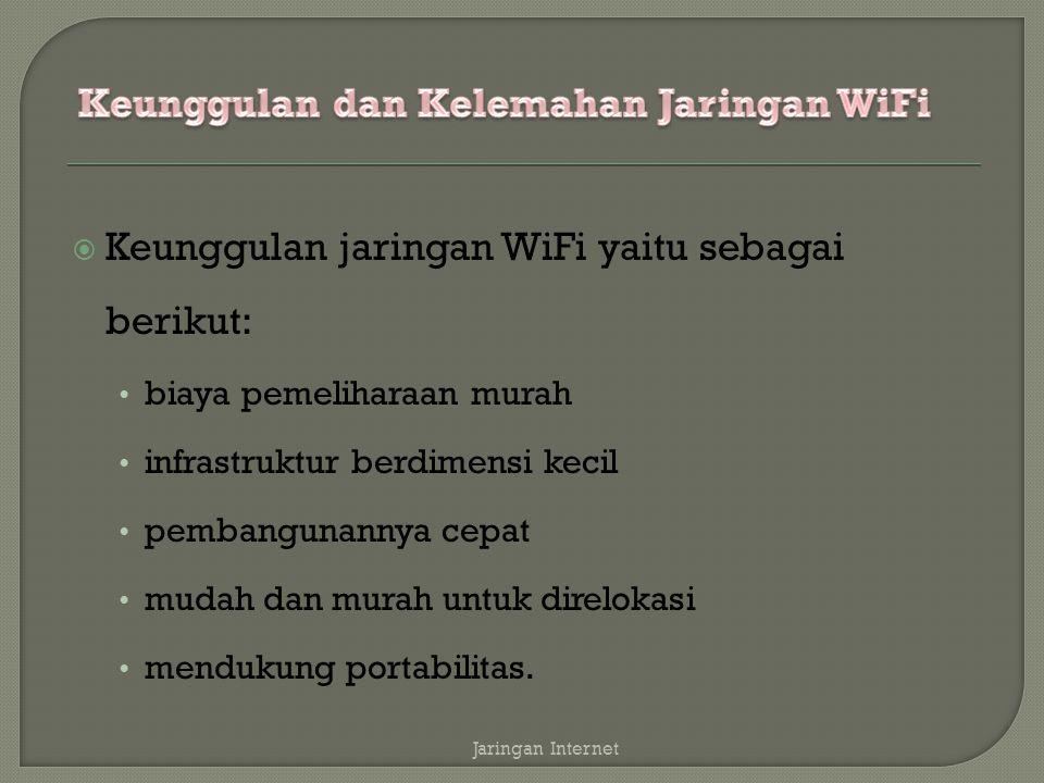 Keunggulan dan Kelemahan Jaringan WiFi