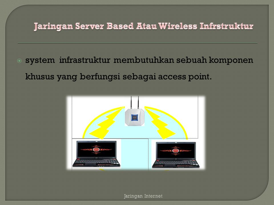 Jaringan Server Based Atau Wireless Infrstruktur