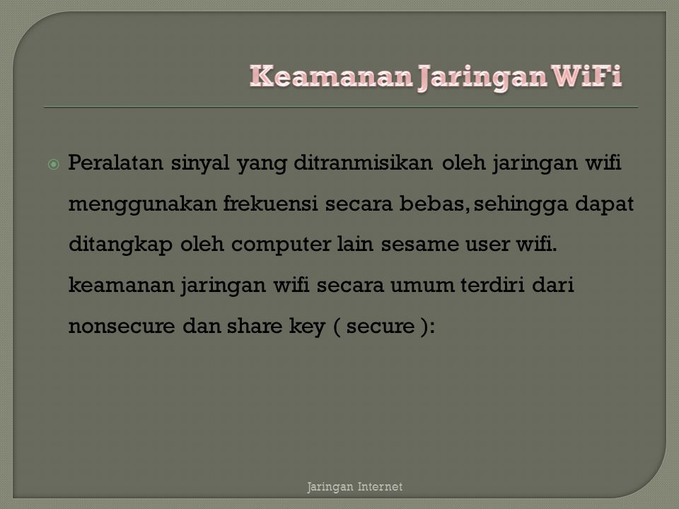 Keamanan Jaringan WiFi