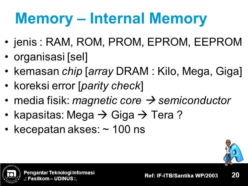Memory – Internal Memory
