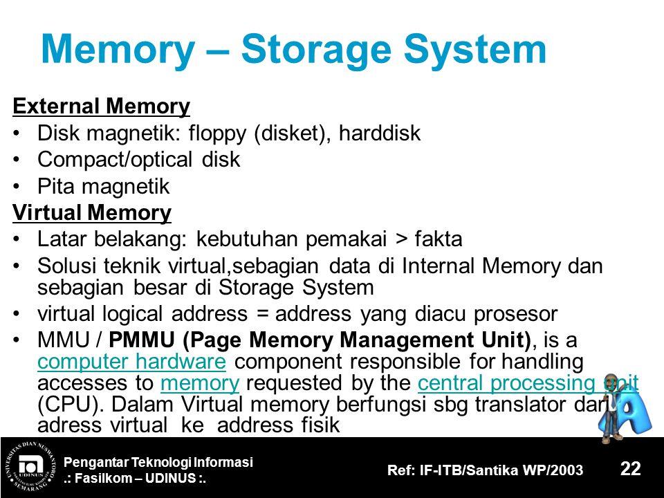 Memory – Storage System