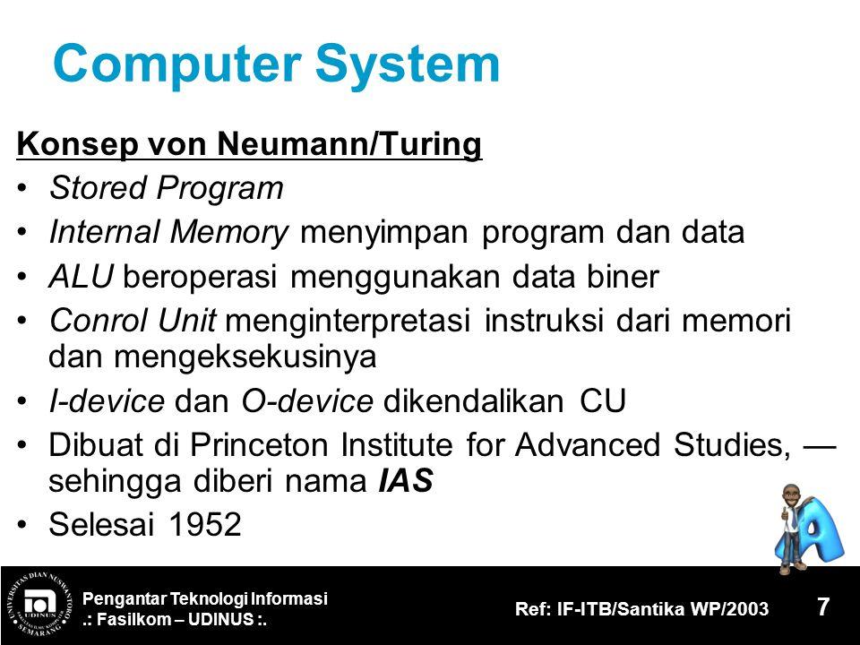 Computer System Konsep von Neumann/Turing Stored Program