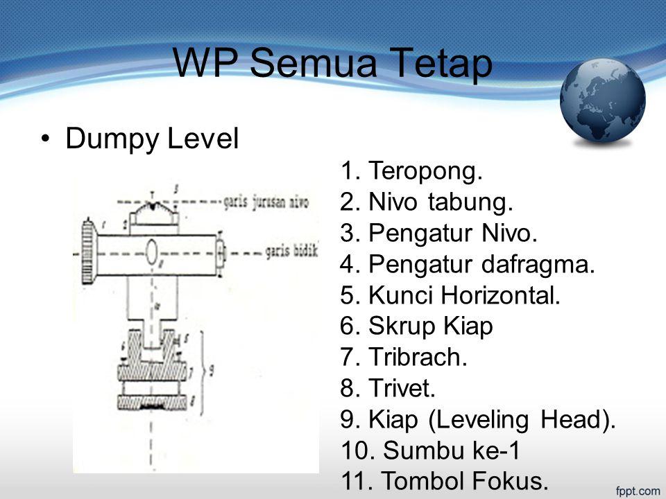 WP Semua Tetap Dumpy Level 1. Teropong. 2. Nivo tabung.