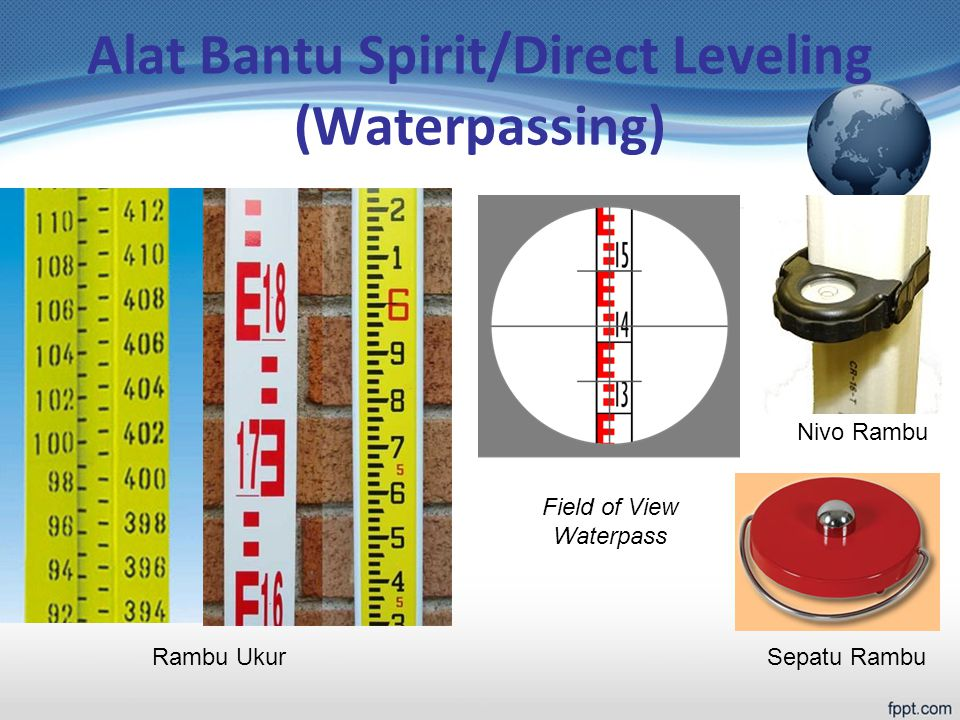 Alat Bantu Spirit/Direct Leveling (Waterpassing)