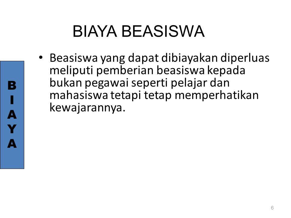 BIAYA BEASISWA