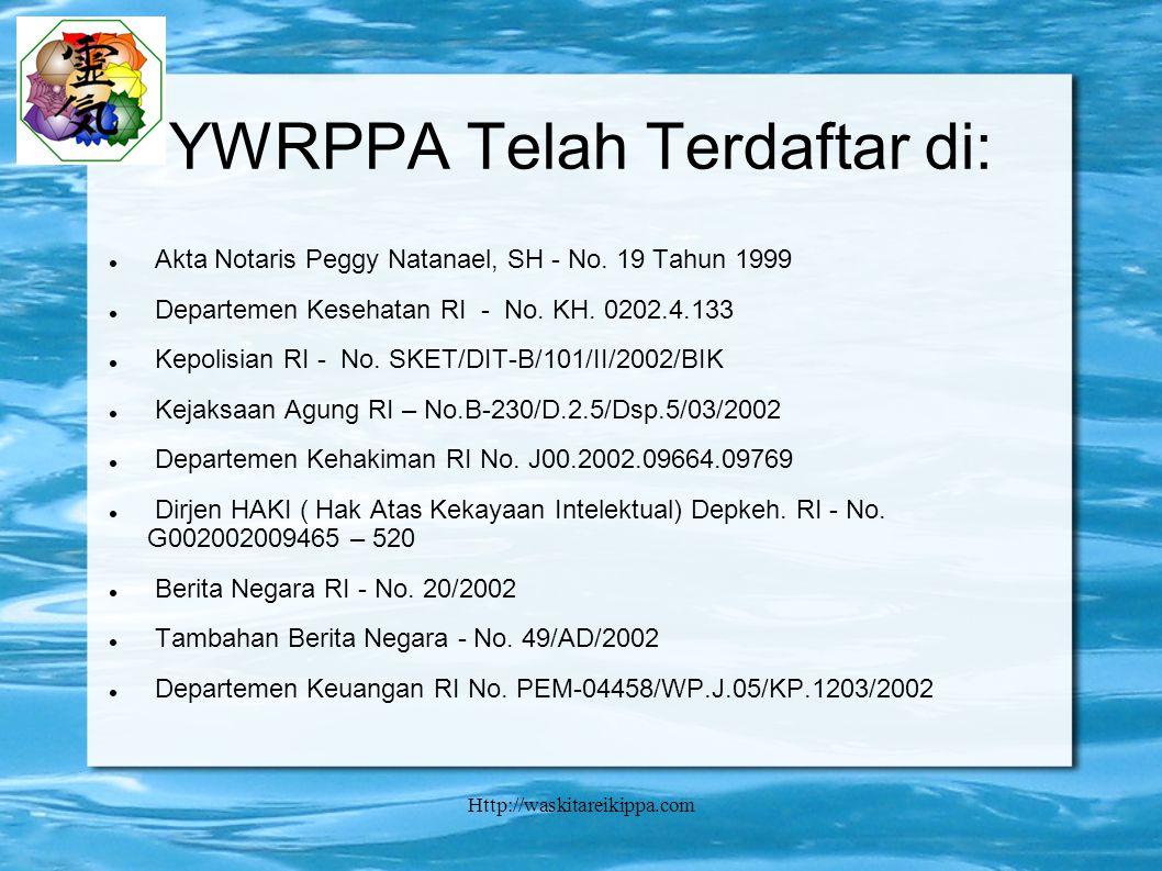 YWRPPA Telah Terdaftar di:
