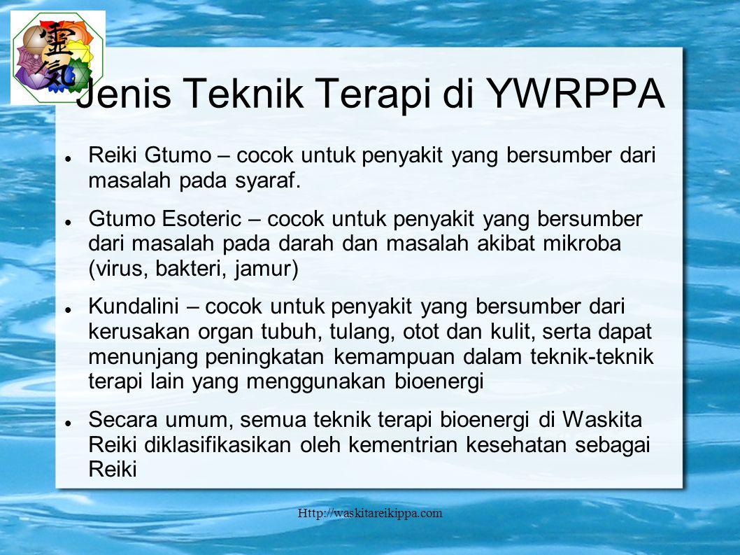 Jenis Teknik Terapi di YWRPPA