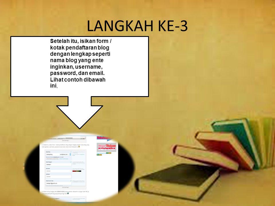 LANGKAH KE-3