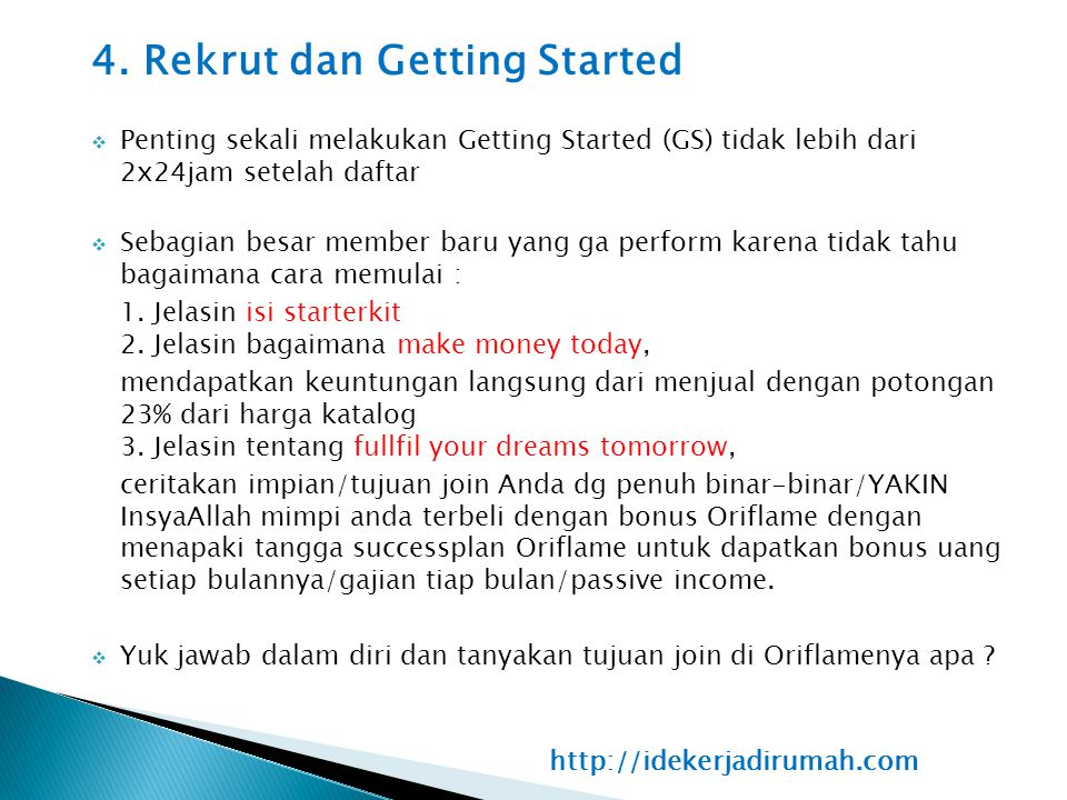 4. Rekrut dan Getting Started