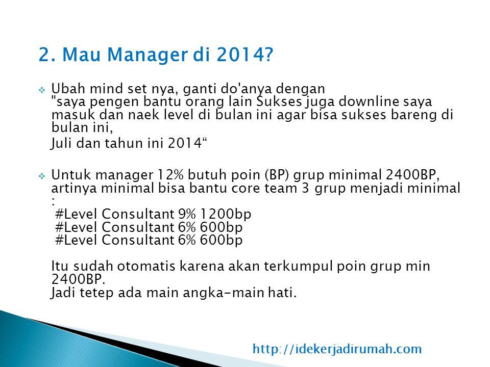 2. Mau Manager di 2014