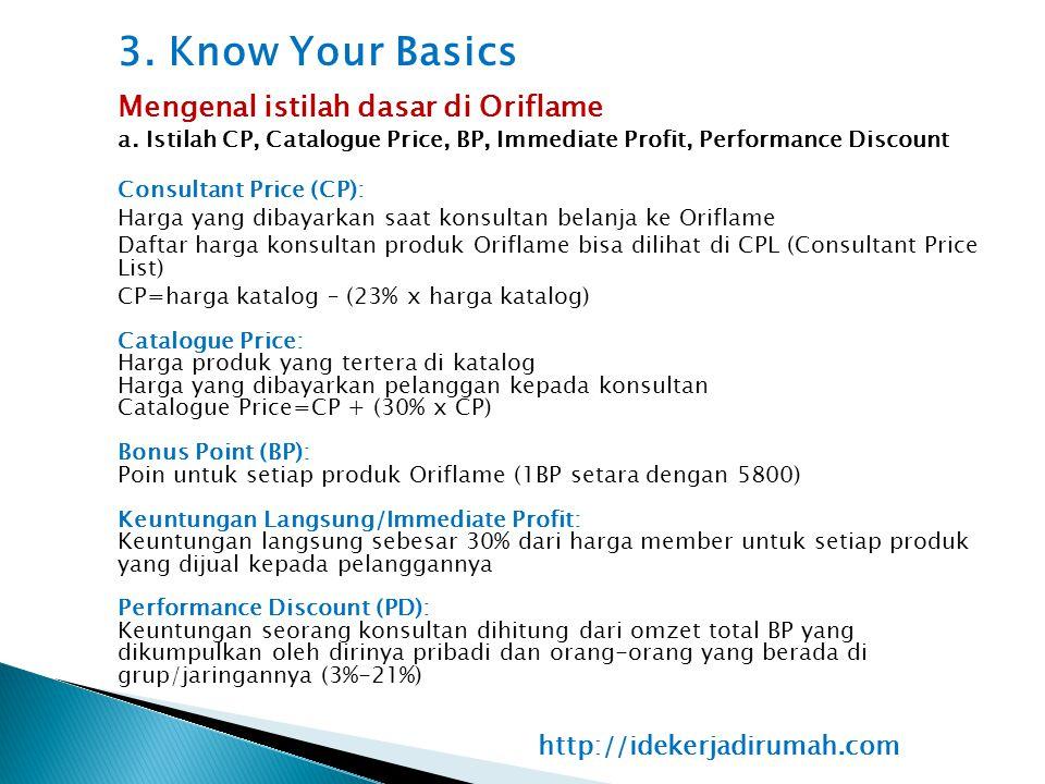 3. Know Your Basics Mengenal istilah dasar di Oriflame