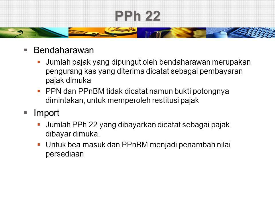 PPh 22 Bendaharawan Import