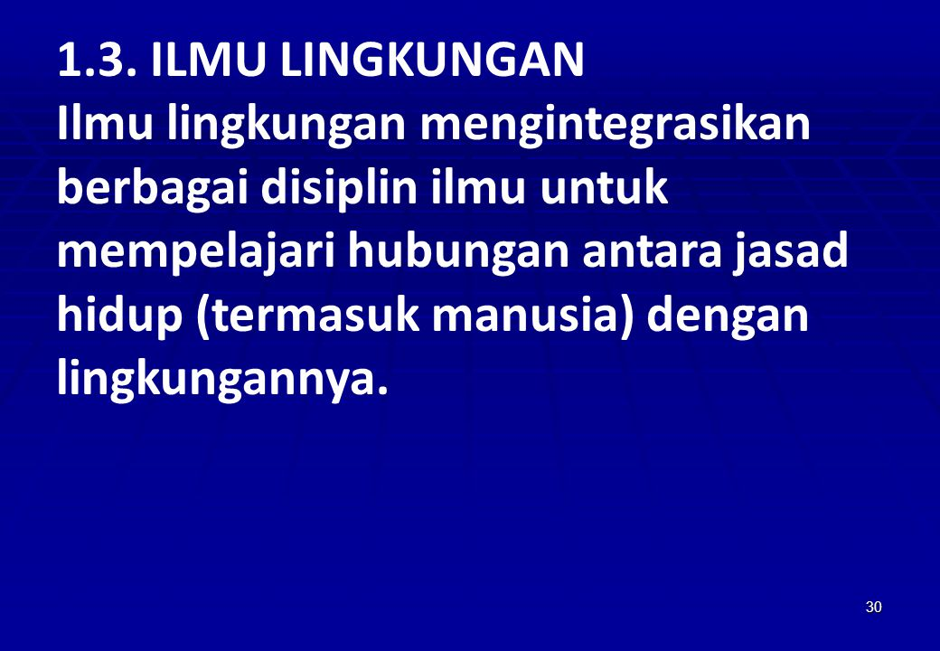 1.3. ILMU LINGKUNGAN