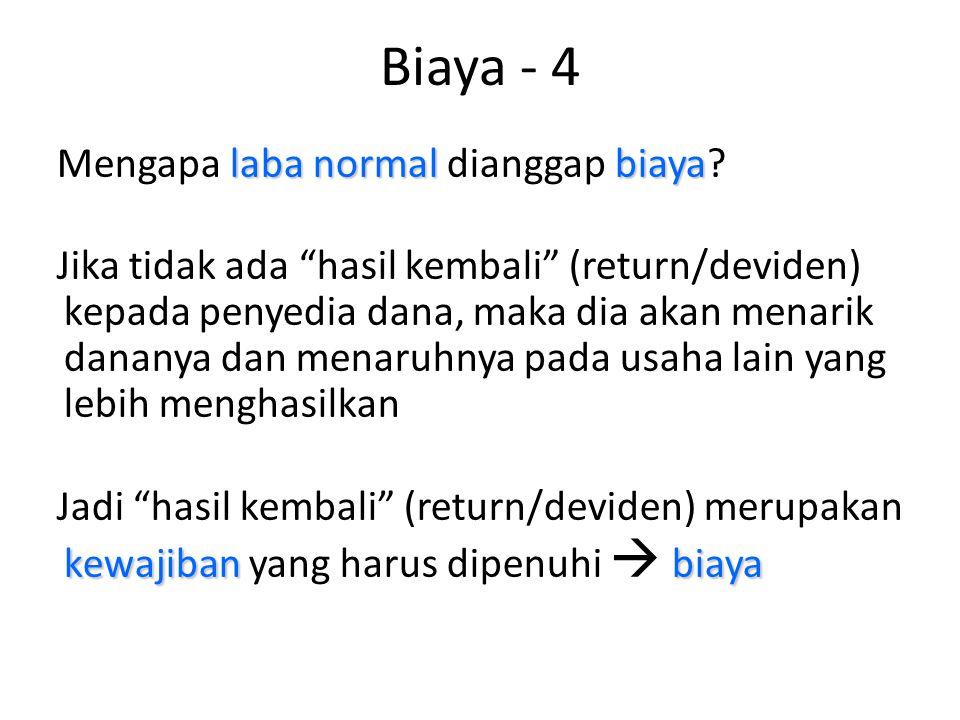 Biaya - 4