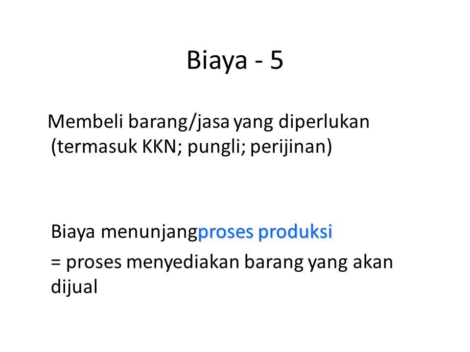 Biaya - 5