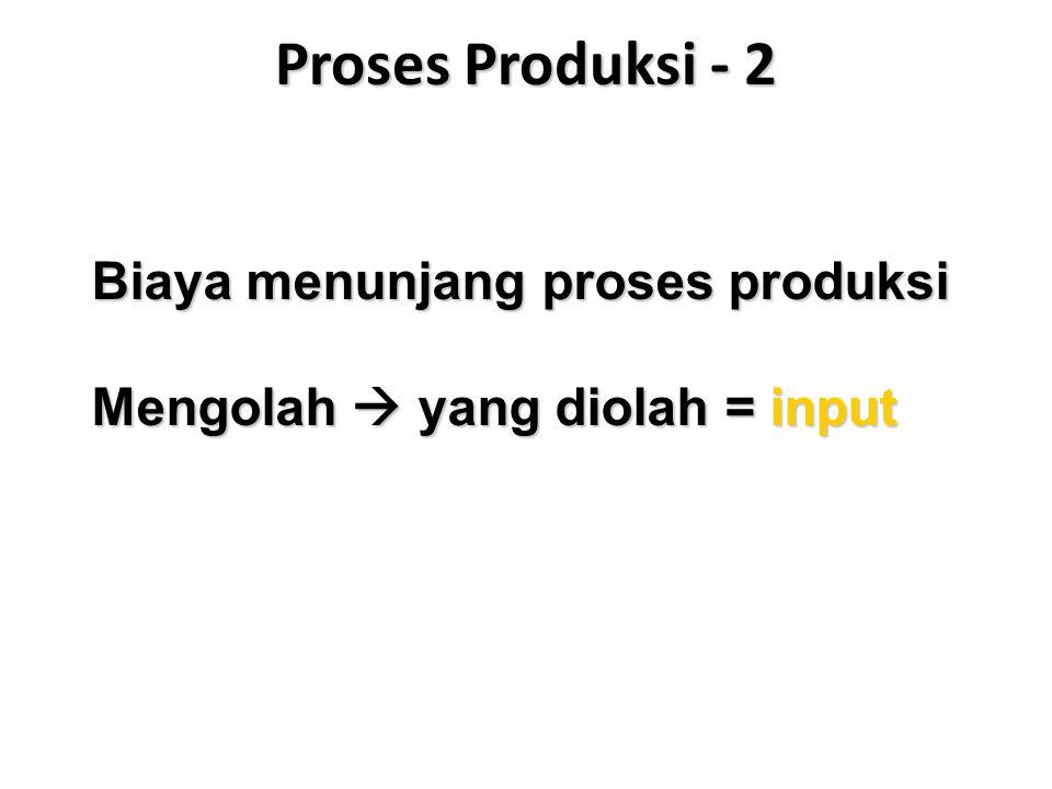 Proses Produksi - 2 Biaya menunjang proses produksi