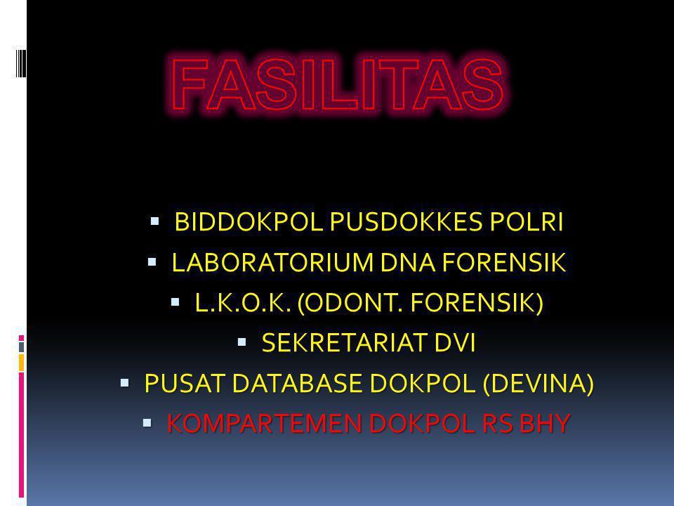 FASILITAS BIDDOKPOL PUSDOKKES POLRI LABORATORIUM DNA FORENSIK