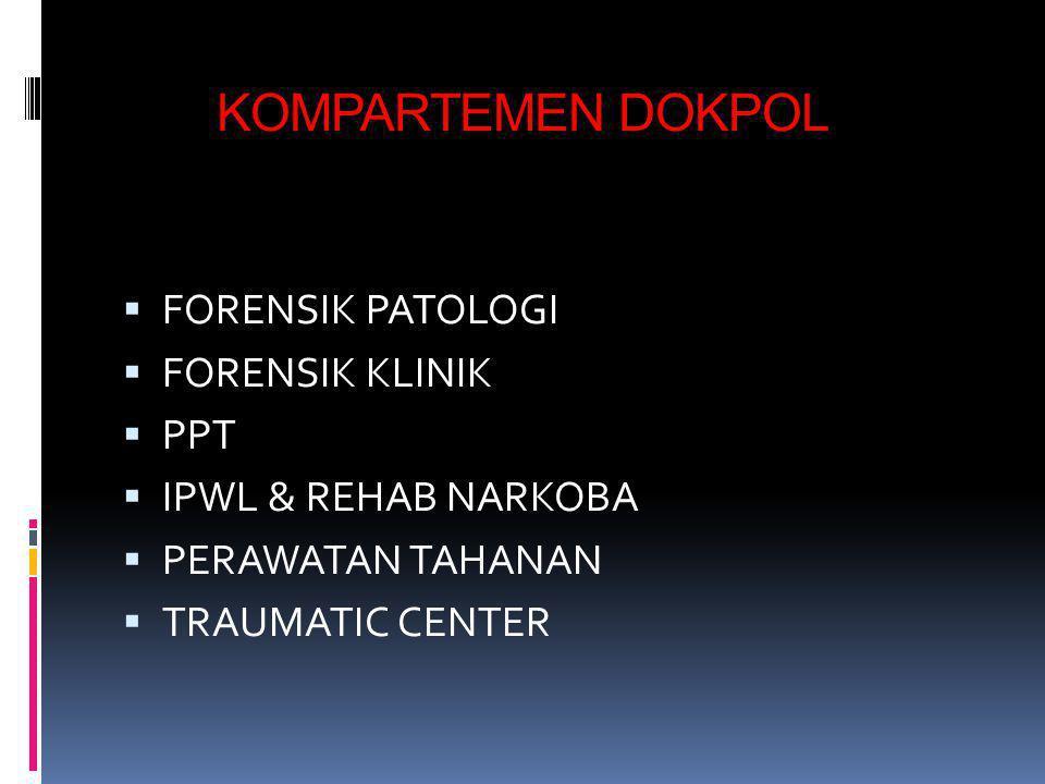 KOMPARTEMEN DOKPOL FORENSIK PATOLOGI FORENSIK KLINIK PPT