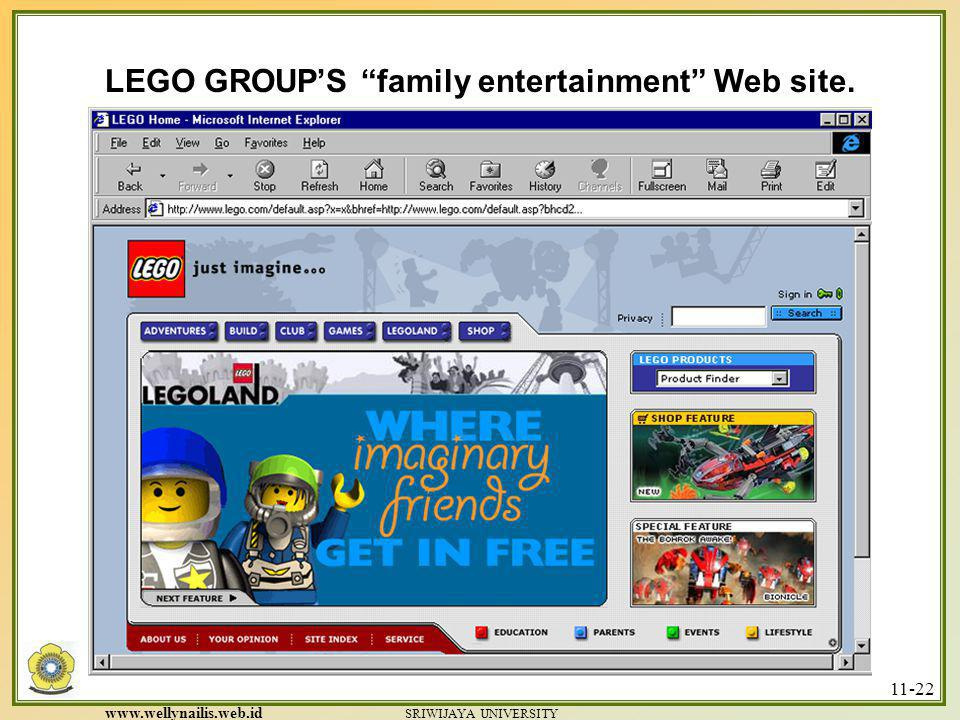 LEGO GROUP'S family entertainment Web site.