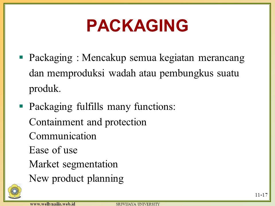PACKAGING Packaging : Mencakup semua kegiatan merancang dan memproduksi wadah atau pembungkus suatu produk.
