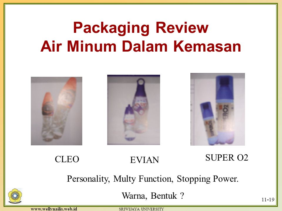 Packaging Review Air Minum Dalam Kemasan