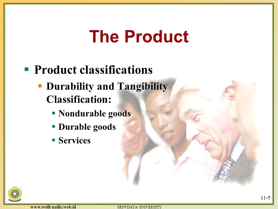The Product Product classifications