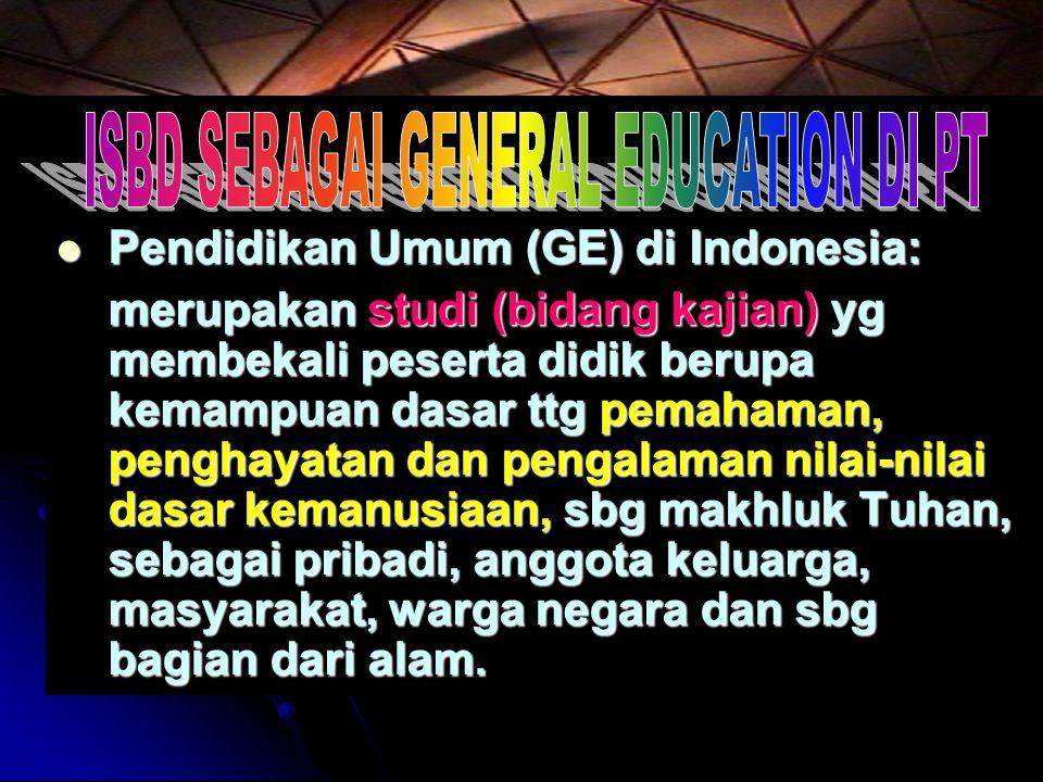 ISBD SEBAGAI GENERAL EDUCATION DI PT