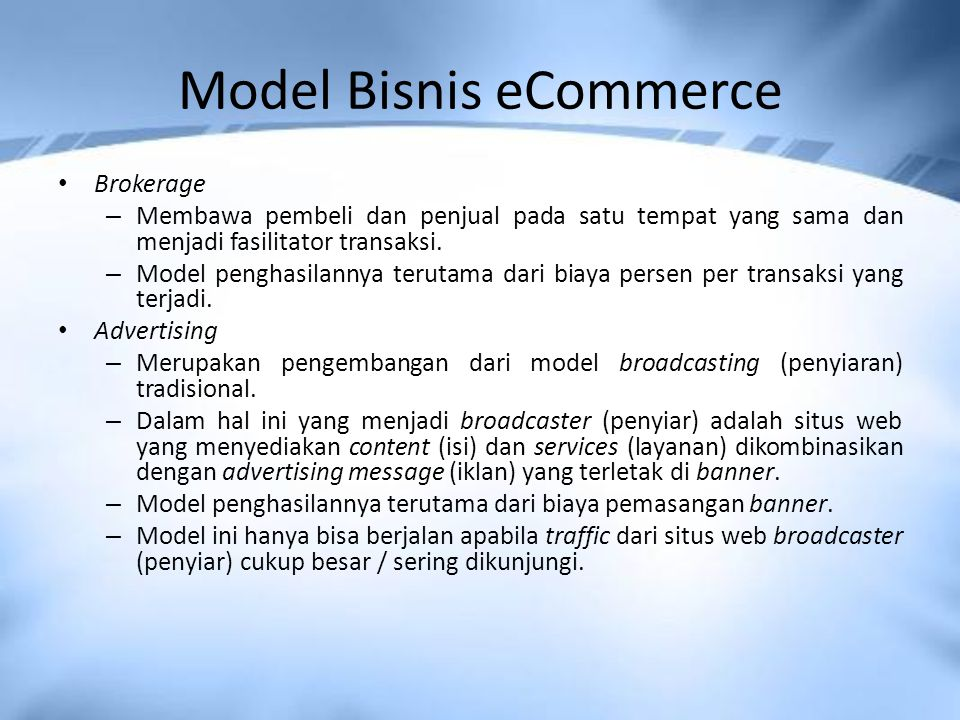 Model Bisnis eCommerce