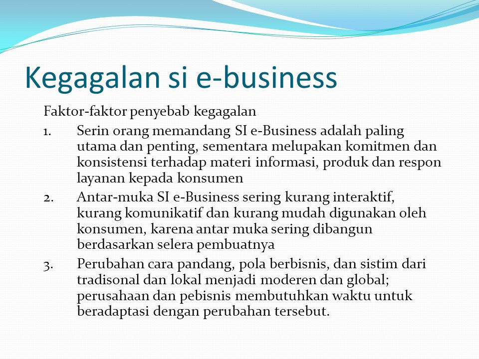 Kegagalan si e-business