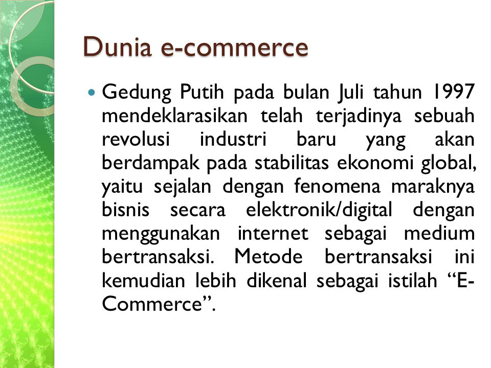 Dunia e-commerce