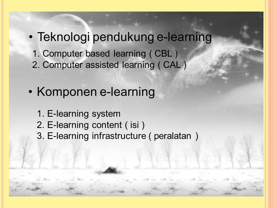 Teknologi pendukung e-learning
