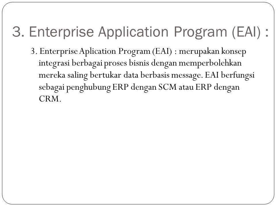 3. Enterprise Application Program (EAI) :