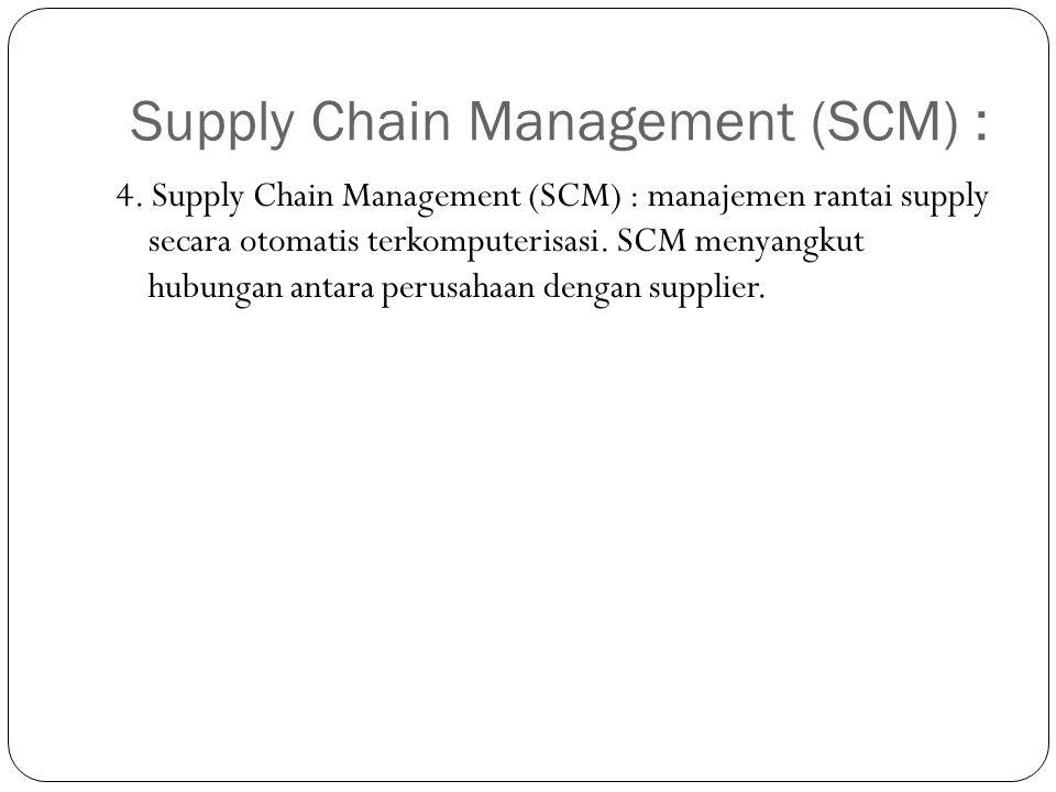 Supply Chain Management (SCM) :