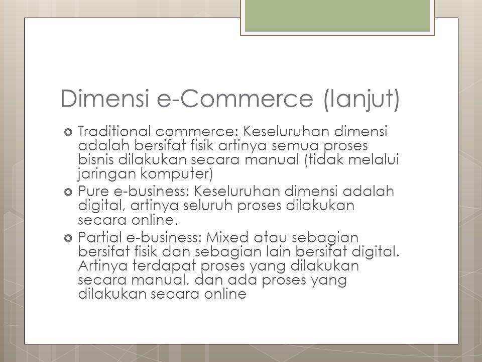 Dimensi e-Commerce (lanjut)