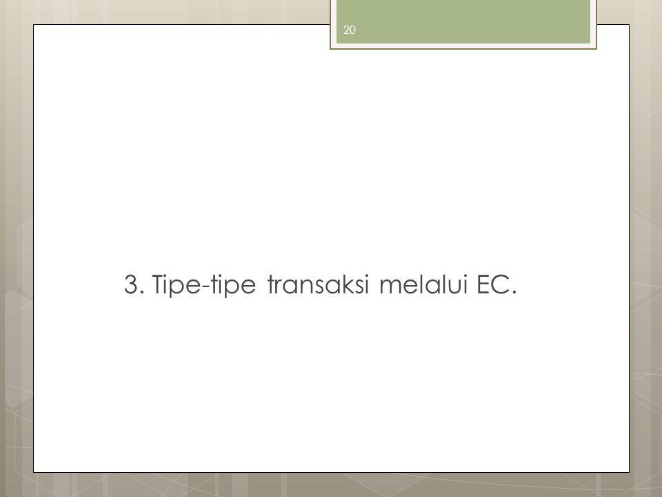3. Tipe-tipe transaksi melalui EC.