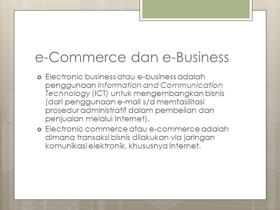 e-Commerce dan e-Business