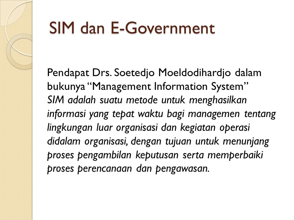 SIM dan E-Government