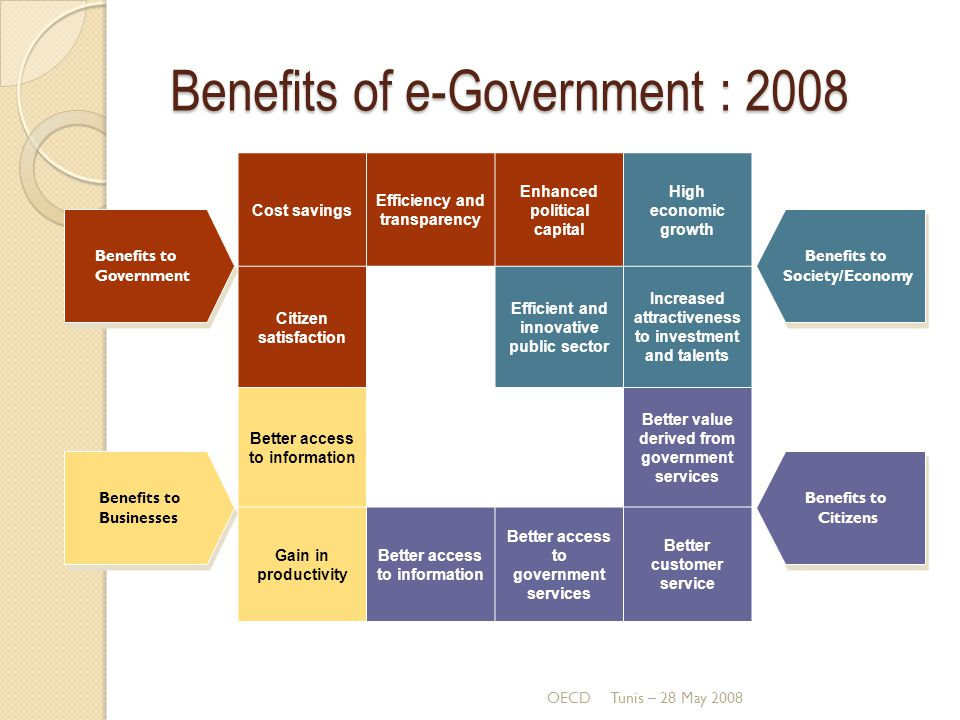 Benefits of e-Government : 2008